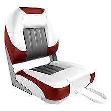 asiento y coj/ín con placa de montaje CFG Asiento de barco con respaldo plegable y coj/ín 41 x 36 x 48 cm