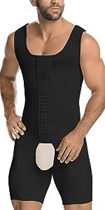 mens shapewear bodysuit slim