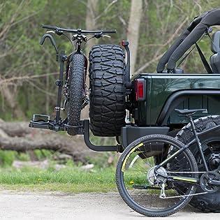 bike rack kac overdrive fat tire mountain hitch mount platform