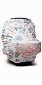 olivia floral baby car seat cover