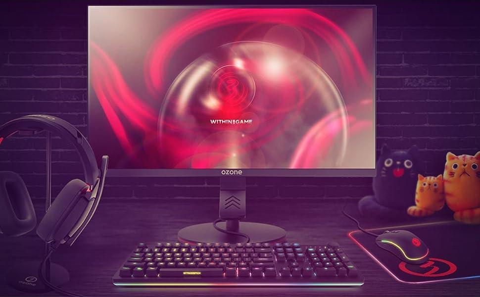 Ozone Gaming OZDSP25 Pro - Monitor - Diseñado para Gaming - Pantalla 1920 x 1080 Full HD, Monitor 24