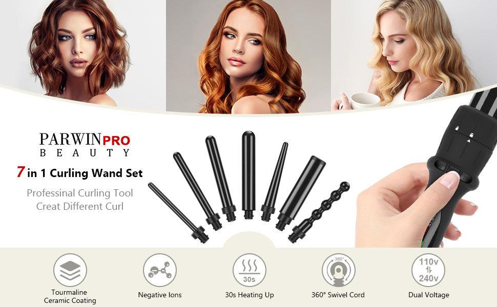 7 IN 1 Curling iron