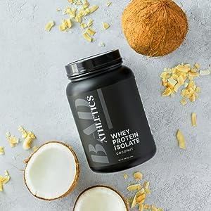 Bad Athletics 100% Whey Protein Isolate Coconut
