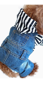 Dog Jeans Hoody Jumpsuit