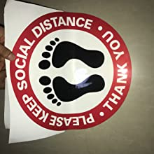 """12"""" 12 inch large 5 pack 10 pack 20 pack 40 pack 80 pack 6 feet social distancing sign"""