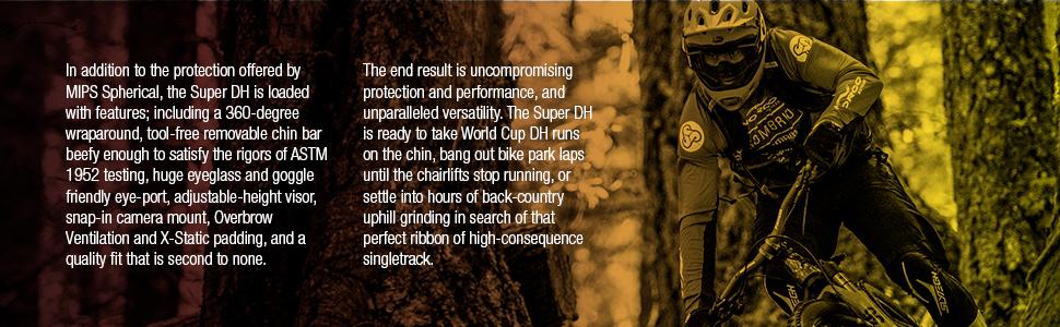 SUPER DH MOUNTAIN BIKE HELMET DETAILS