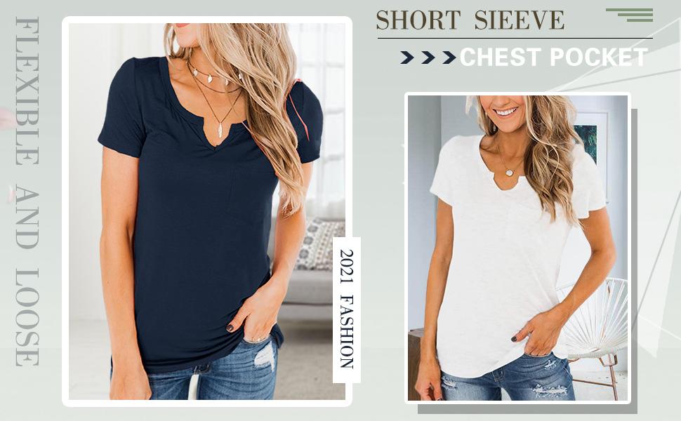Women's Scoop Neck Short Sleeve Tops