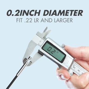 0.2inch diameter, fit .22 lr
