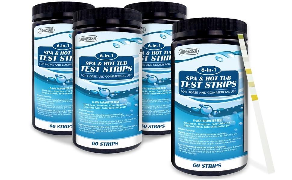hot tub chlorine test strips