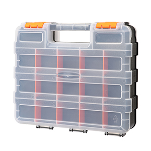 CASOMAN Double Side Tool Organizer with Customizable Removable Plastic Dividers