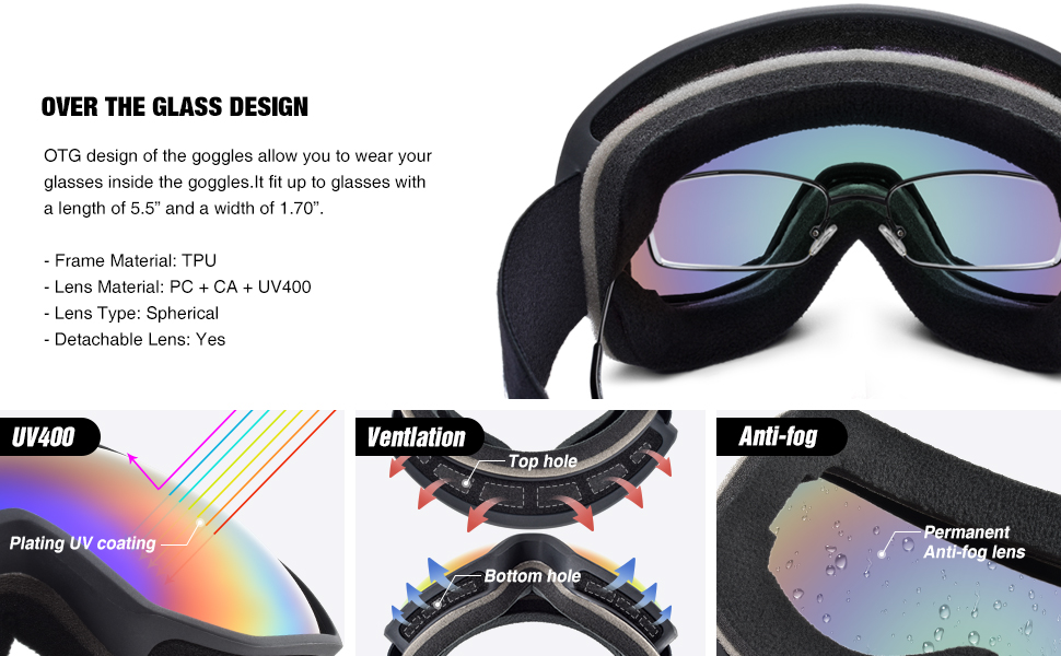 ski goggles for women