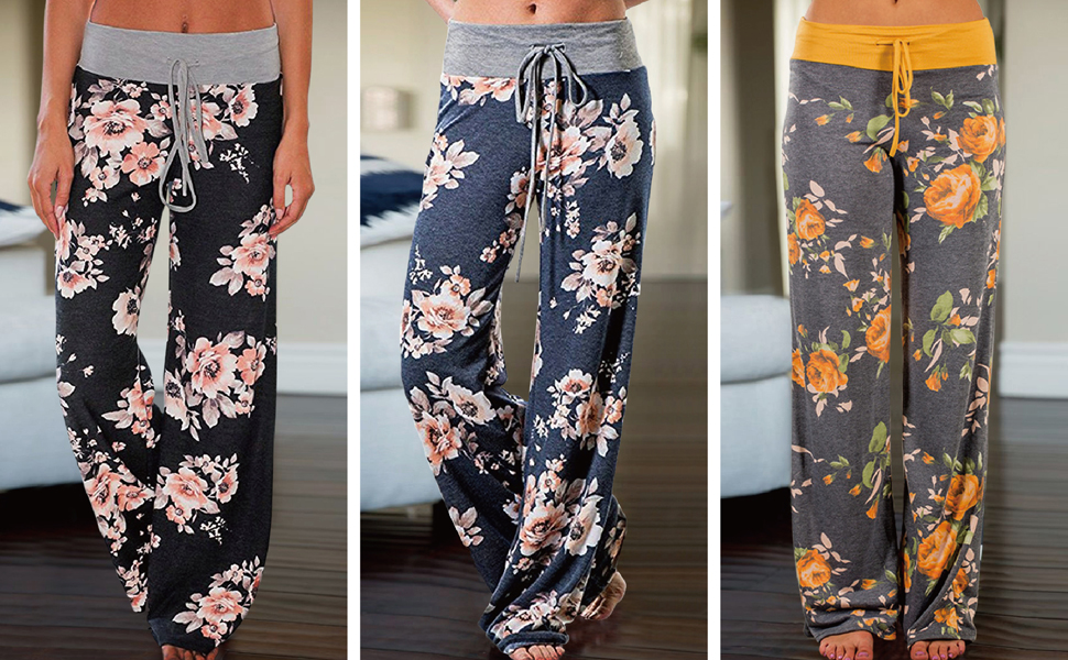 Purdue Boilermakers Womens Scatter Pattern Floral Pajama Lounge Pants