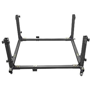 Movable Cart Door Holder Storage Sliding Rack for 2007-2019 Jeep Wrangler JK JL Unlimited 4-Door