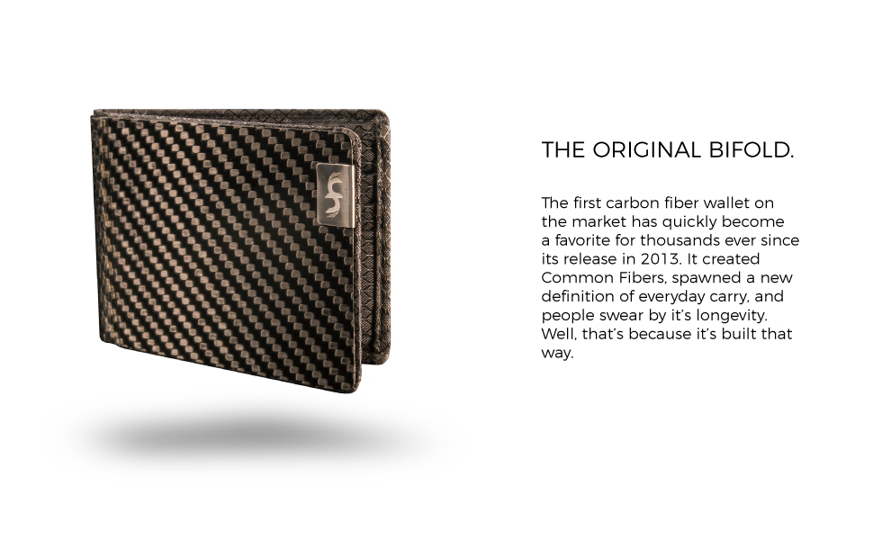 Common Fibers MAX durable carbon fiber bifold mens wallet is built to last and RFID Blocking