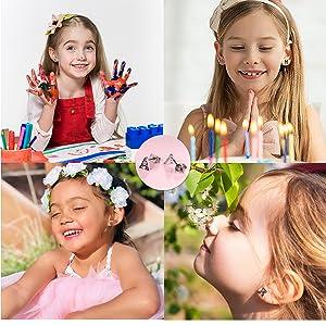 initial earrings for girls