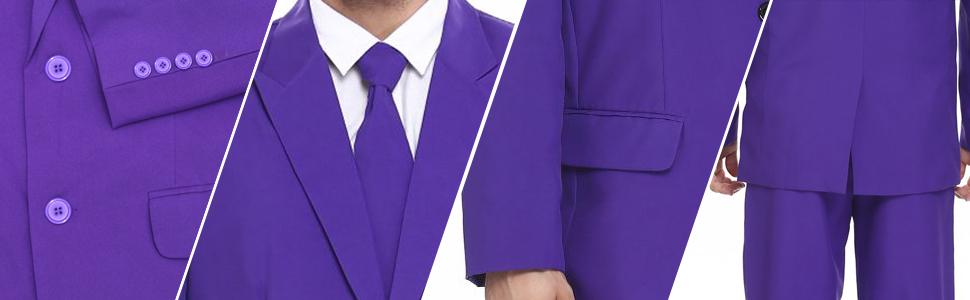 solid color party suit, party, suit, tie, jacket, trouser, 2-button suit jacket, color, matching tie