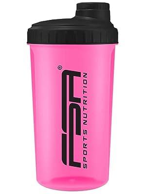 Shaker 700 ml, Preparador de batidos de proteínas y BCAA, libres de BPA ya prueba de vertidos, de la marca de deporte profesional FSA Nutrition - Rosa