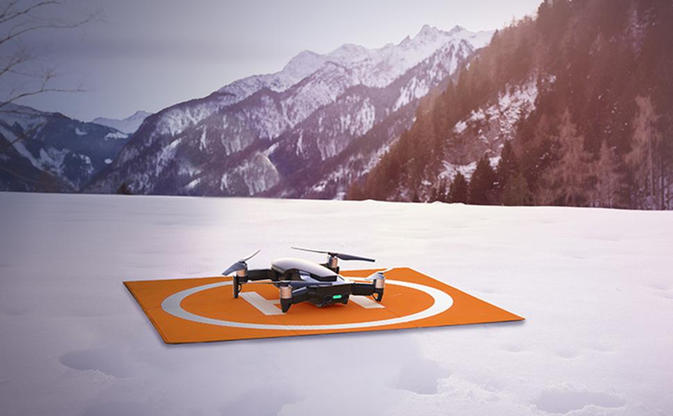 GeneicFor D-JI Spark Drone Tapis datterrissage imperm/éable pour bureau de stationnement 25 cm Tablier pliable Tarmac amortisseur Mavic Mini accessoires Tello