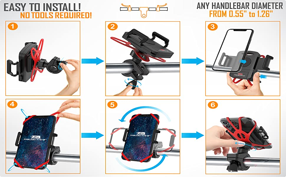 phone holder for motorcycle bicycle phone holder handlebar bike iphone holder golf cart phone holder