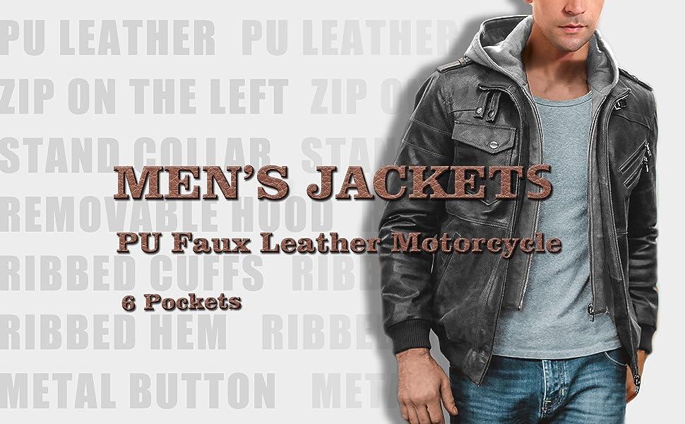 mens brown leather jacket with hood brown leather bomber jacket men brown jacket