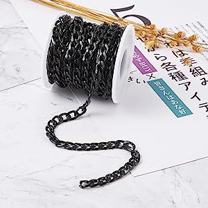 Aluminum Curb Chain Link, Black.