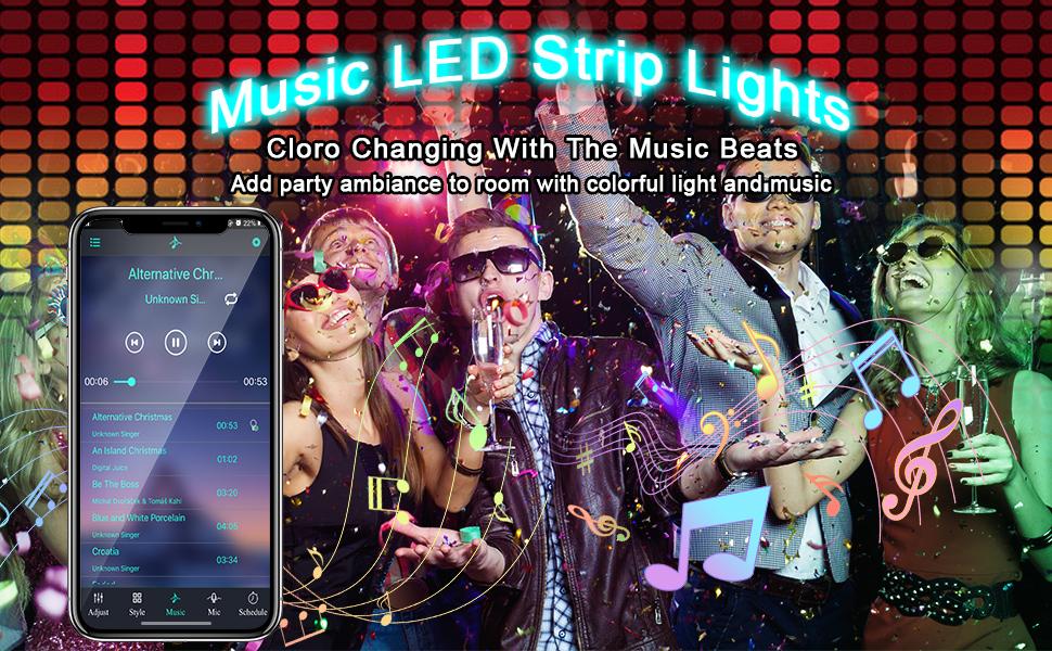 led strip lights music