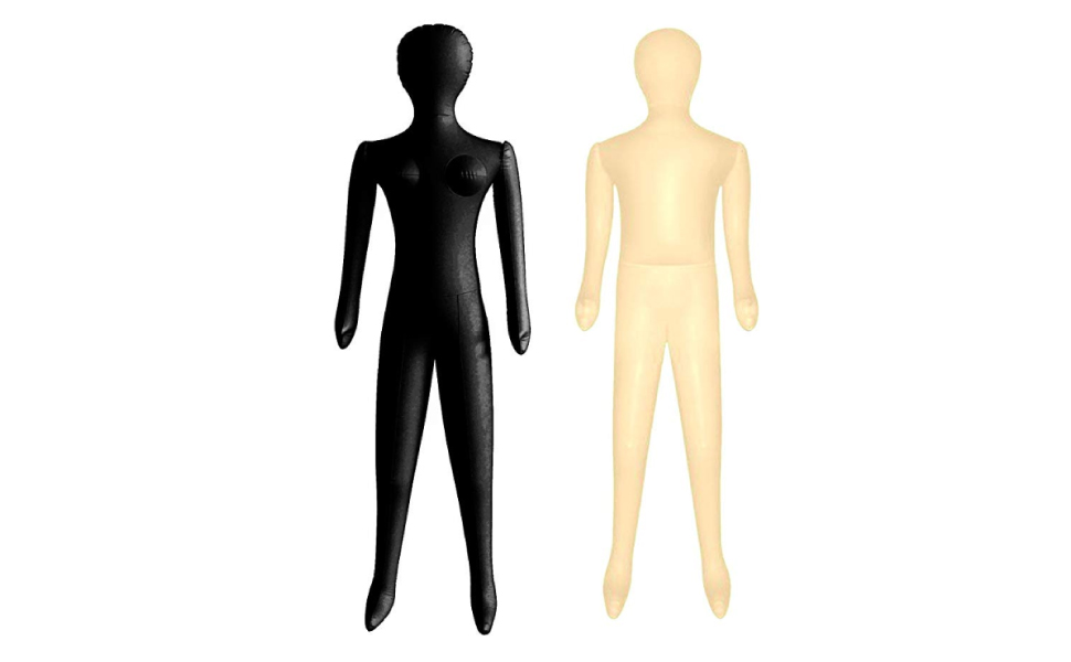 Inflatable Mannequin Male Leg Form Black