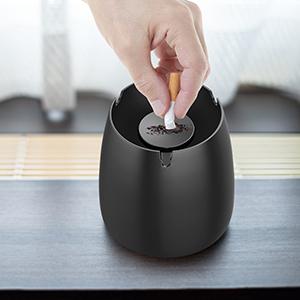Noir Garosa Mini Cendrier C/éramique Portable Cendrier /À Lext/érieur /À Lint/érieur Cendrier Cendrier De Voiture Bureau Maison Cinder