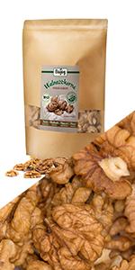 walnoten helften stukjes noten zaden omega vetten gezond hazelnoten walnotenmix amandelen  vezels