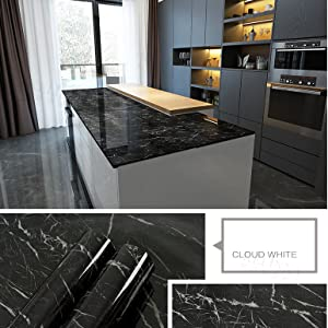 BLACK MARBLE WALL PAPER