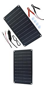 10 watt solar charger for car battery 12V