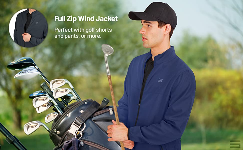 Features a mock neck design and full length zipper for convenience.