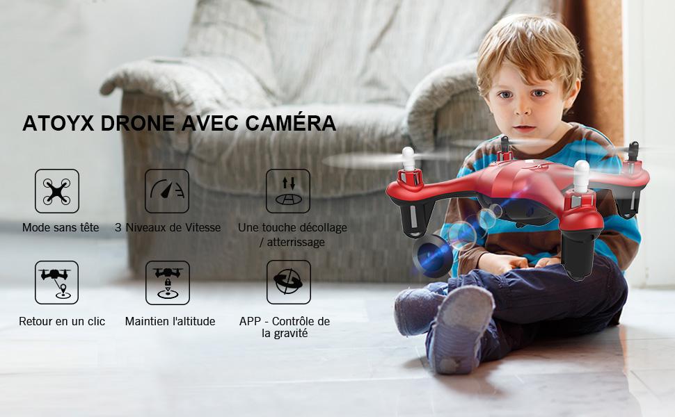Drone avec Caméra HD FPV Drone Enfant WiFi
