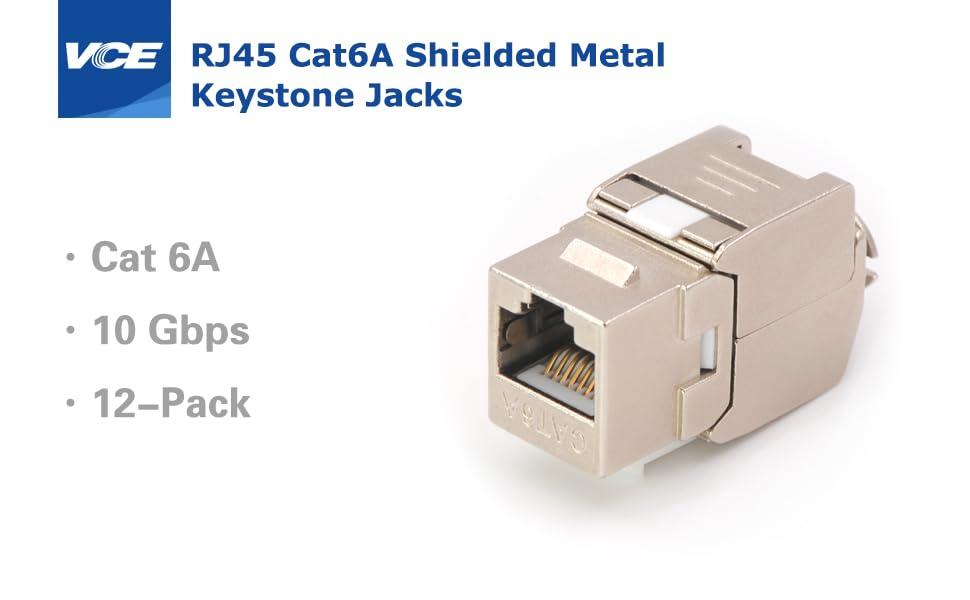 RJ45 Cat6A Keystone Jack