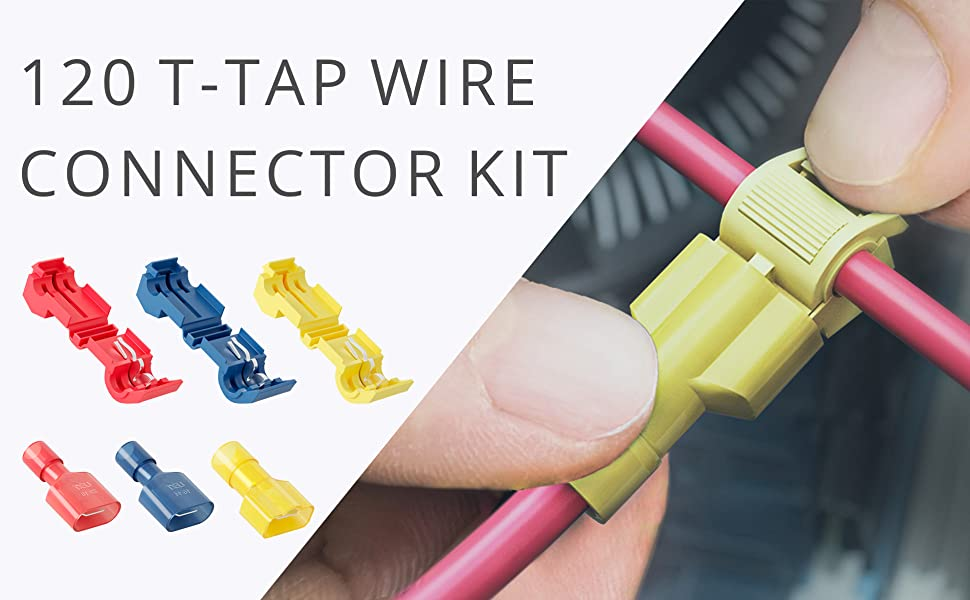 120 PCS Wirefy T Tap Electrical Wire Connectors