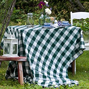 French Stripes Red Tablecloth