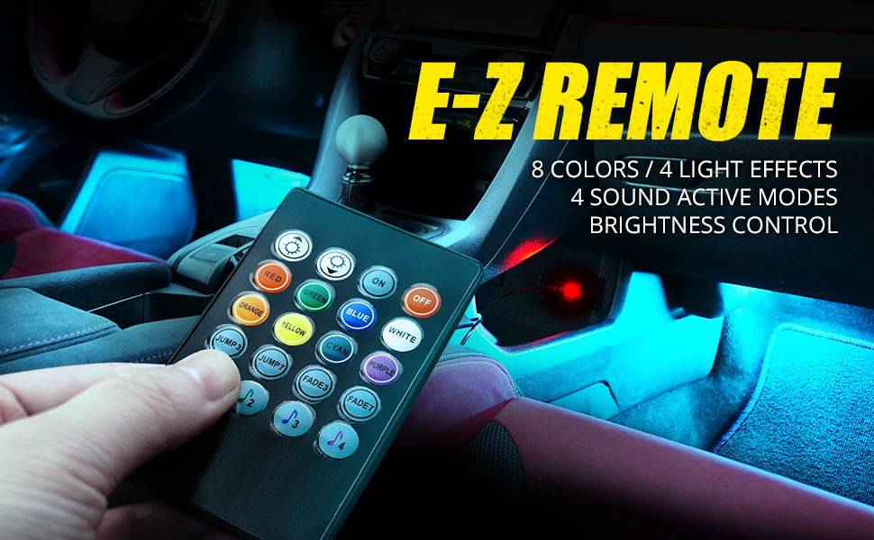 interior car lights accesories for cars ambient lighting car led light trim kit underglow led glow