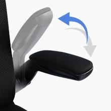flap up armrest office chair