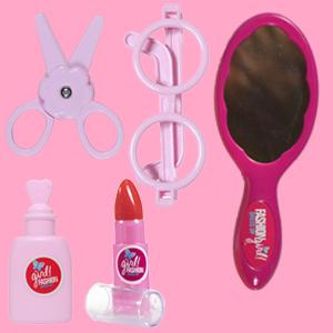 HandMirror Sunglasses Nail Polish Lipstick