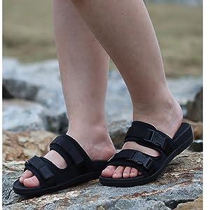 Everhealth Ortopédicas Sandalias Mujer Chanclas Playa Verano Sandalia Plantilla Deportivas de Zapatillas para Mejorar el Apoyo del Arco y Aliviar la