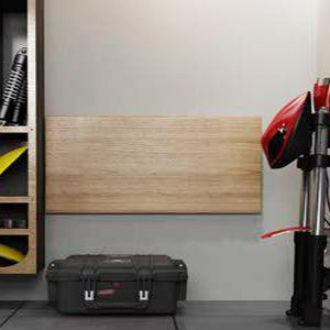 DlandHome Wandklapptisch 120 x 50CM Klapptisch K/üchentisch Laptoptisch Perfekte Erg/änzung zu Garage /& Schuppen//B/üro//Waschk/üche//Hausbar//K/üche /& Esszimmer Teak /& Wei/ß