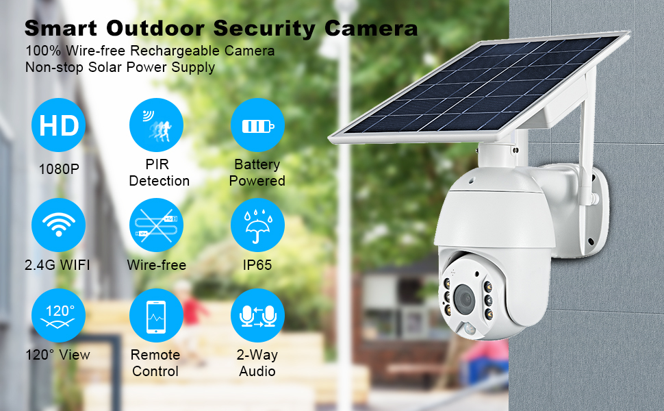wireless security camera,waterproof security camera,ip65 outdoor camera, home security camera solar