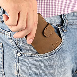Krone kalpasmos Pop-up Wallet Front Pocket