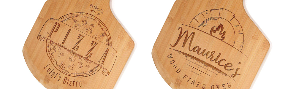 Engraved pizza peel designs
