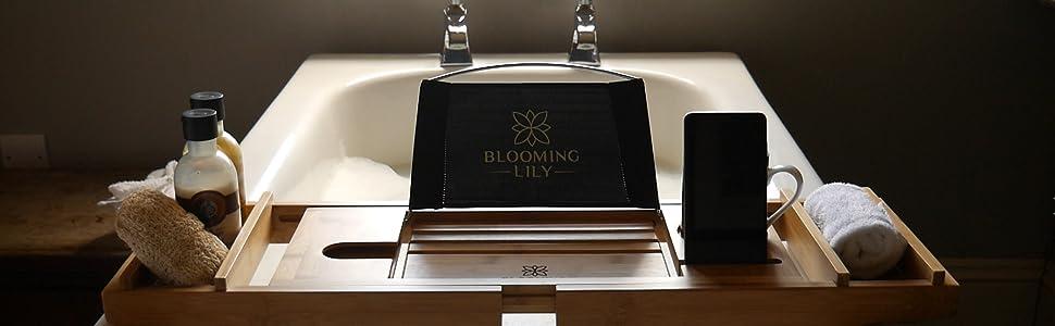 plateau de baignoire bain pour salle accessoire pont livre bambou bois cadeau smartphone savon