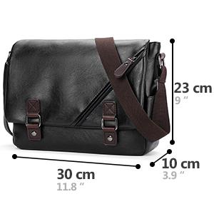SPAHER vintage borsa a tracolla in pelle borsa da lavoro messaggero messenger bag crossbody borsetta borsa da viaggio sacchetto borsa cartella da