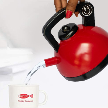 Kettle Red Grey Realistic Water Flow