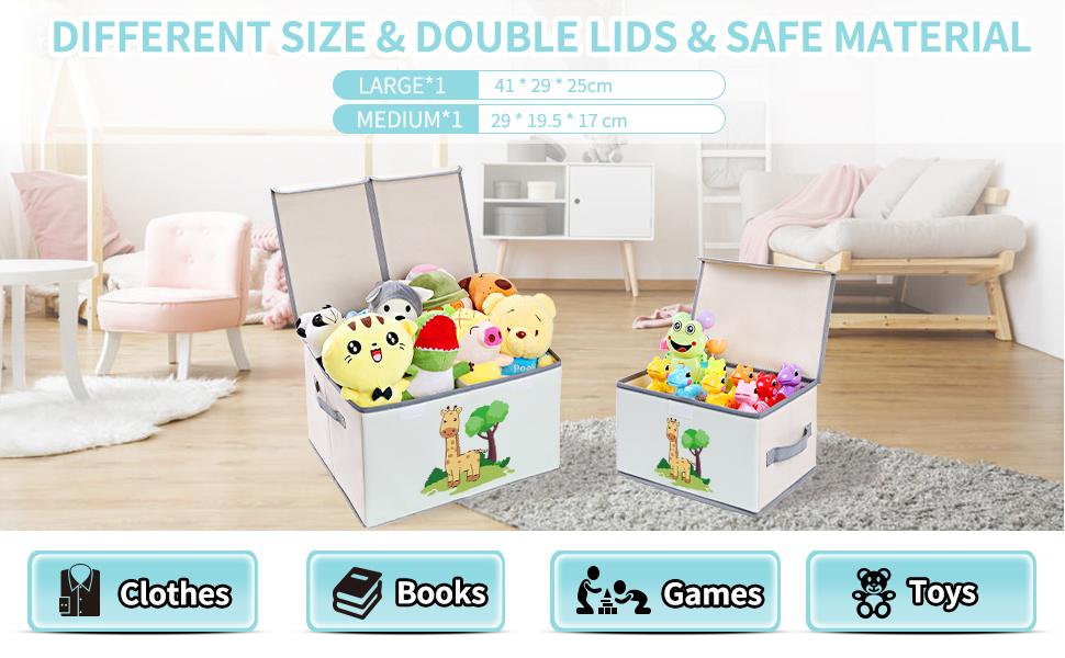 toy storage with lids