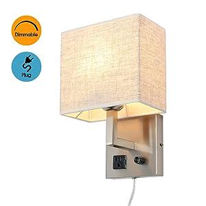 fabric wall lamp