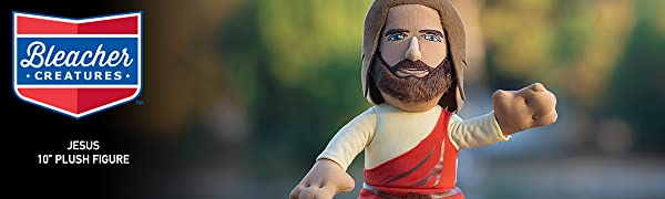 """Bleacher Creatures Jesus 10"""" Plush Figure- A Religious Toy for Play or Display"""